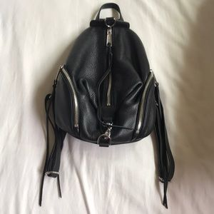 black pebbled medium julian moto zipper backpack